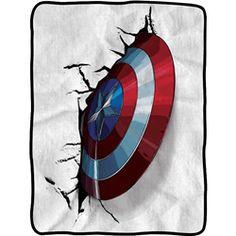 Avengers 2 Cap Shield Fleece Blanket - NW-CFB-AUM2-CACRSH from Superheroes Direct