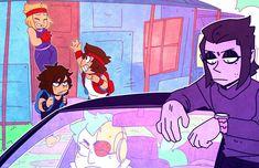 Cartoon Crossovers, Cartoon Gifs, Cartoon Characters As Humans, Ok Ko Cartoon Network, Anime Boy Hair, Fanart, Beautiful Drawings, The Villain, Kos