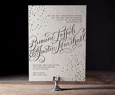 One of our brand-new, Pinterest-inspired designs, Gilded Romance features two-tone foil stamping for an extremely glamorous look! Check out all of our new mid-year release designs here: http://www.bellafigura.com/2012-latest-letterpress-designs.html