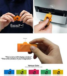 EazzzY, a USB drive/digital camera with no buttons, no LCD screen and no viewfinder.