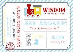 Choo Choo party invitation