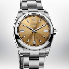 The Rolex Oyster Perpetual 36 mm in 904L steel with a domed bezel, white grape dial and Oyster bracelet. #Baselworld  176 Broadway, NYC 212-732-0890