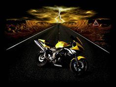 3d Bikes Wallpapers Yellow Alliswall