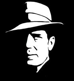 Humphrey Bogart vectorized