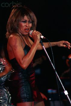 tina turner performing | Tina Turner Singing in Black Dress
