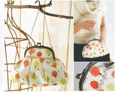 purse pattern 12cm curved frame