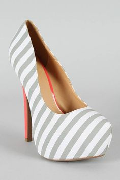 high-heels-I have these but black and white stripe and black heel