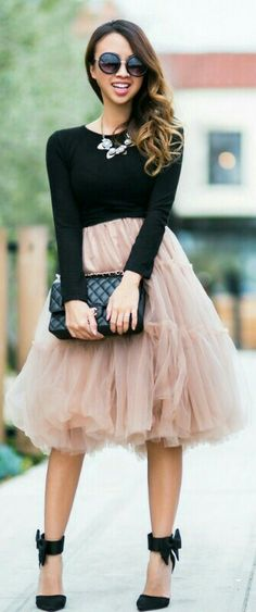 Chicwish Tulle Skirt / Lace and Locks
