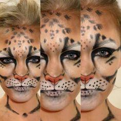 My Work Leopard Makeup, Clouded Leopard, Cat Makeup, Halloween Face Makeup, Leopards