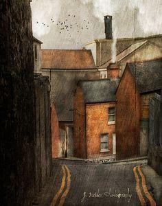 Painting by Jamie Heiden Art Graphique, Oeuvre D'art, Landscape Art, Urban Landscape, Painting Inspiration, Home Art, Art Photography, Digital Photography, Art Gallery