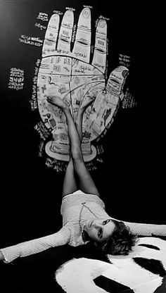 Edie Sedgwick Vintage Black & White Celebrity Photo | 1960s | 60s Photography | Famous Socialite Model | Andy Warhol Era | The Real Factory Girl | Palmistry Chart | Chiromancy Poster | Edie's Palm Reading Event | Occult | Esoteric | Psychic