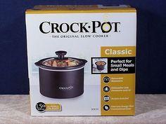 Crock-Pot Classic Slow Cooker - Black 1.5 Qt Round Model SCR151 - Factory Sealed Small Meals, Crock Pot, Slow Cooker, Seal, Classic, Model, Black, Derby, Crockpot