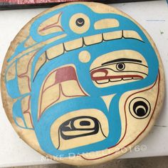 "14"" drum done!! Ready for October potlatch #alaskanative #alaskanativeart…"