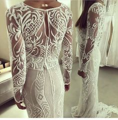 Haute couture wedding gowns like this long sleeve design can be made for less with our company. We can make a less expensive #replica of any couture design that will look the same in style and cut but cost way less. Get pricing on custom #weddingdresses & inspired dress designs when you visit us at www.dariuscordell.com