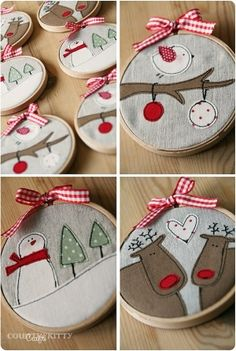 Christmas Hoops - would make a cute gift!
