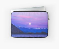 Sunset Sky Mountain Lake Landscape • Millions of unique designs by independent artists. Find your thing. Sky Mountain, Sunset Sky, Sleeve Designs, Back To Black, Top Artists, Laptop Case, Laptop Sleeves, Iphone Cases, Landscape
