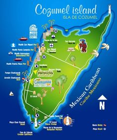 To Do: Visit the entire Cozumel island map!