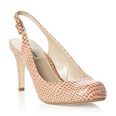 CHASTE - Slingback Snakeskin Effect Court Shoe by Dune Shoes
