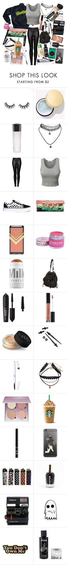 """I resent the party scene with a part of me that's hard to see, it's turned my starry friends to uninspired's lacking symmetry"" by thelyricsmatter ❤ liked on Polyvore featuring Unicorn Lashes, MAC Cosmetics, Wet Seal, Topshop, LE3NO, Vans, Urban Decay, MILK MAKEUP, Benefit and Anastasia Beverly Hills"