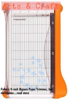 Fiskars 9-inch Bypass Paper Trimmer, low maintenance, requires no replacement items, self sharpening blades, ideal for card making and cropping photo's … (This is an affiliate link)
