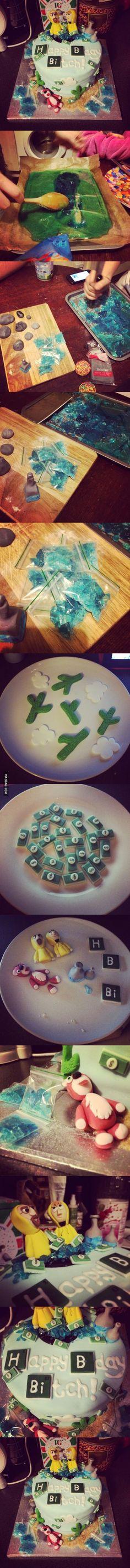 So my housemates made a cake...