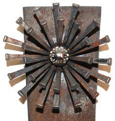 Repurposed metal scultures For The Garden   ... , Sphere, Garden Art, Plant Stake, Industrial, Rusty Metal Garden Art