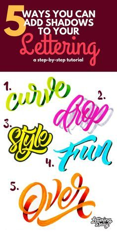 In this lettering tutorial, you will be learning 5 different ways you can add shadows to your lettering! Shadows are a great way to add depth to your lettering and make it stand out more. This tutorial is suitable for both hand lettering and calligraphy a Calligraphy Artist, Calligraphy Tutorial, Hand Lettering Tutorial, Calligraphy Letters, Calligraphy Doodles, Hand Lettering For Beginners, Calligraphy For Beginners, Creative Lettering, Lettering Styles