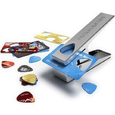 Guitar pick hole puncher, for use with old credit cards