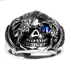Cool Canes, Mens Stainless Steel Rings, Mens Ring Sizes, Punk Jewelry, Size 10 Rings, Cheap Fashion, Biker, Gothic, Rings For Men