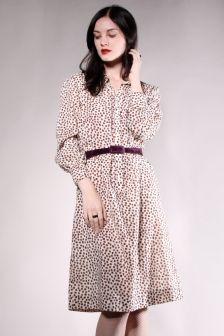 $55 Vintage Print Dress http://thriftedandmodern.com/vintage-70s-spot-print-dress