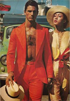Note to self: grow out chest hair...  devodotcom: GQ - PAT CLEVELAND - ELEGANCE 1973
