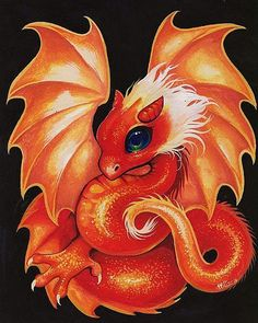 Ddraig: Art 'Blaze Dragonette' - by Nico Niemi from dragons Clay Dragon, Fire Dragon, Magical Creatures, Fantasy Creatures, Fantasy Kunst, Fantasy Art, Bebe Anime, Baby Dragon Tattoos, Cute Dragon Drawing