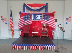 The stage from our USO Show-themed Big Event.