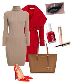 """""""Casual#19"""" by jajina-morongova ❤ liked on Polyvore featuring Keepsake the Label, Rumour London, Christian Louboutin, Michael Kors, Essie and By Terry"""