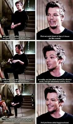 Louis on an interview recently