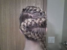"The ""s"" or backwards ""s"" braid on my sister Lauren"