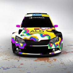 The power of colours- since now the design has got no limits! Skoda Fabia, Car Wrap, Rally, Wrapping, Decals, Colours, Stickers, Fan, Vehicles