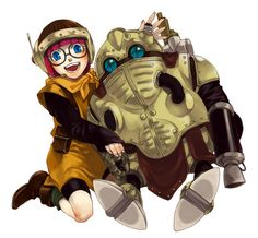 Lucca and Atropos/Robo from Chrono Trigger