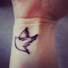My Bird tattoo wrist