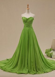 Green color gown