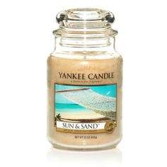 Sun & Sand® : Large Jar Candles : Yankee Candle : A tropical beach breeze of sweet orange flower, lemony citrus, fresh lavender and powdery musk. Scented Candles, Candle Jars, Candle Holders, Lavender Candles, Homemade Candles, Yankee Candle Scents, Yankee Candles, Sent Bon, Summer Scent