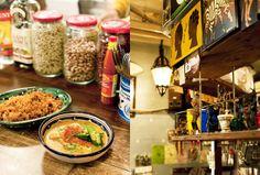 アフリカやカリブ、中近東と多国籍な料理が黒板にズラリと並ぶ、熱帯音楽酒場。ご主人の上川大助さんの前職はミュージシャン。ライブで訪れたアフリカ現地の味を再現かつアレンジし、「現地よりおいしい」と評判だ。 Tokyo Restaurant, Recipes, Food, Meals, Yemek, Recipies, Recipe, Eten