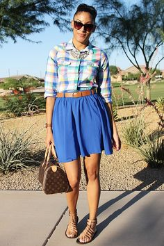spring outfit inspiration, spring plaid