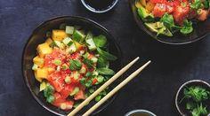 Oppskrifter – Enriched Food Gazpacho, Bruschetta, Guacamole, Hummus, Pesto, Mango, Ethnic Recipes, Food, Manga