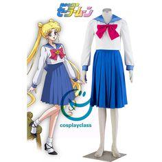 Sailor Moon Princess Sailor Moon Tsukino Usagi Sailor School Uniform Cosplay Costume  #SailorMoon #TsukinoUsagi #Cosplay #Costume