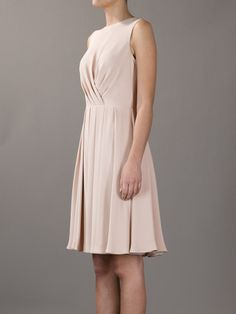 Valentino Sleeveless Dress in Beige (nude) | Lyst