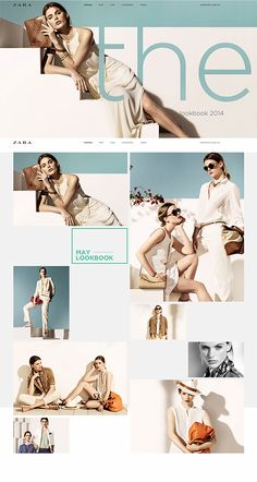 Zara online redesign on Behance