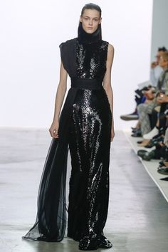 Giambattista Valli black evening gown from ready to wear collection 2013 Paris show