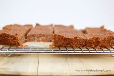 Mix and Make Chocolate Slice. No blending, no baking, little time and truly delicious! Free from gluten, grains, dairy, egg and refined sugar. Enjoy.