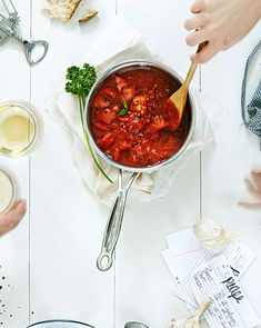 Simple Tomato Sauce with Fresh Herbs is a recipe you'll want to save forever!